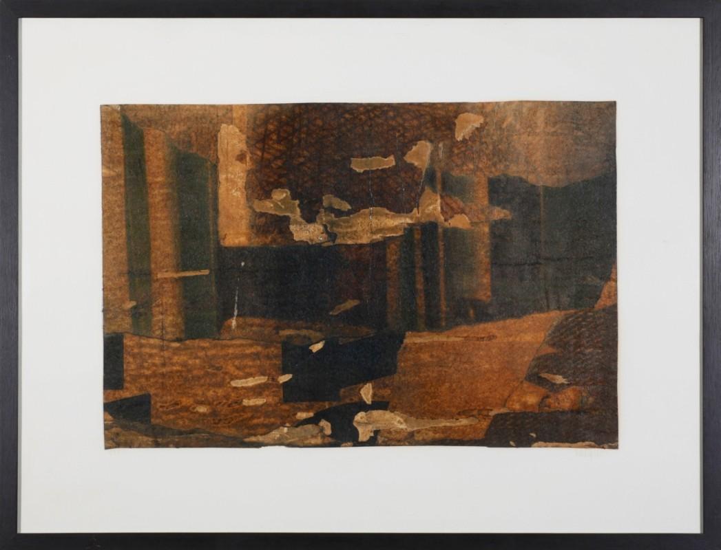 """Komposition"", Mischtechnik auf Papier, 30 cm x 30 cm"