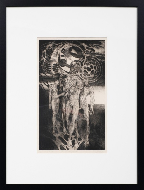 """Die Blindengruppe"", Radierung, 49 cm x 29,5 cm"
