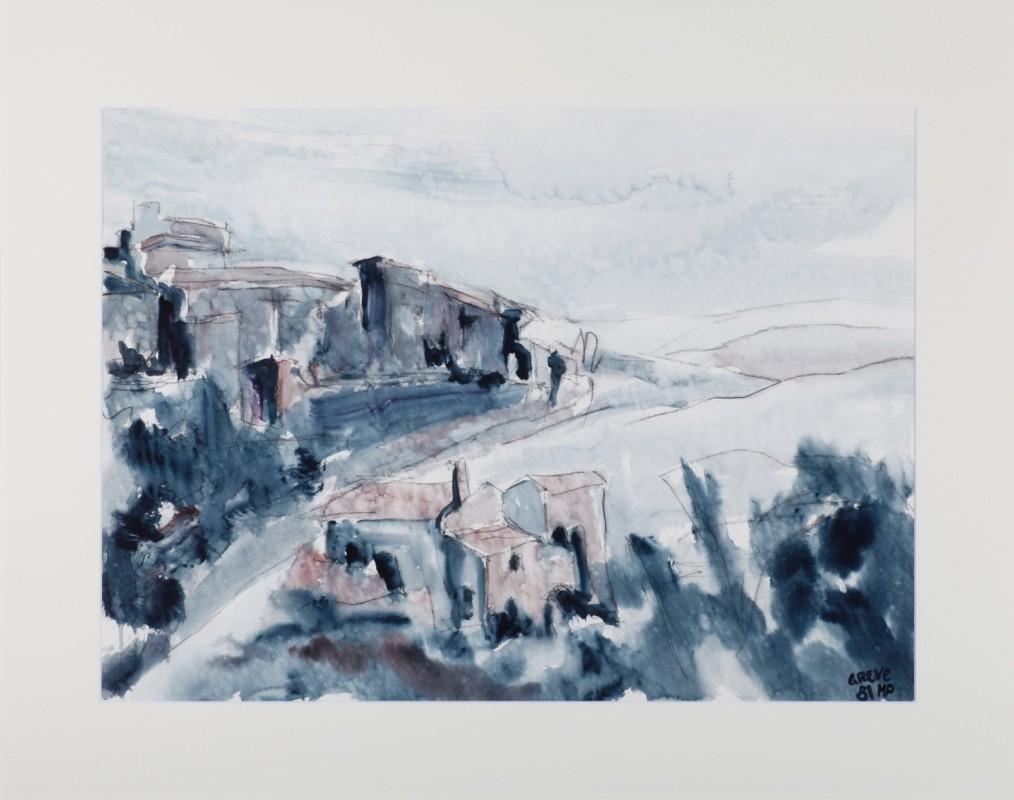 """""""Greve"""", Aquarell, 55 cm x 75 cm"""