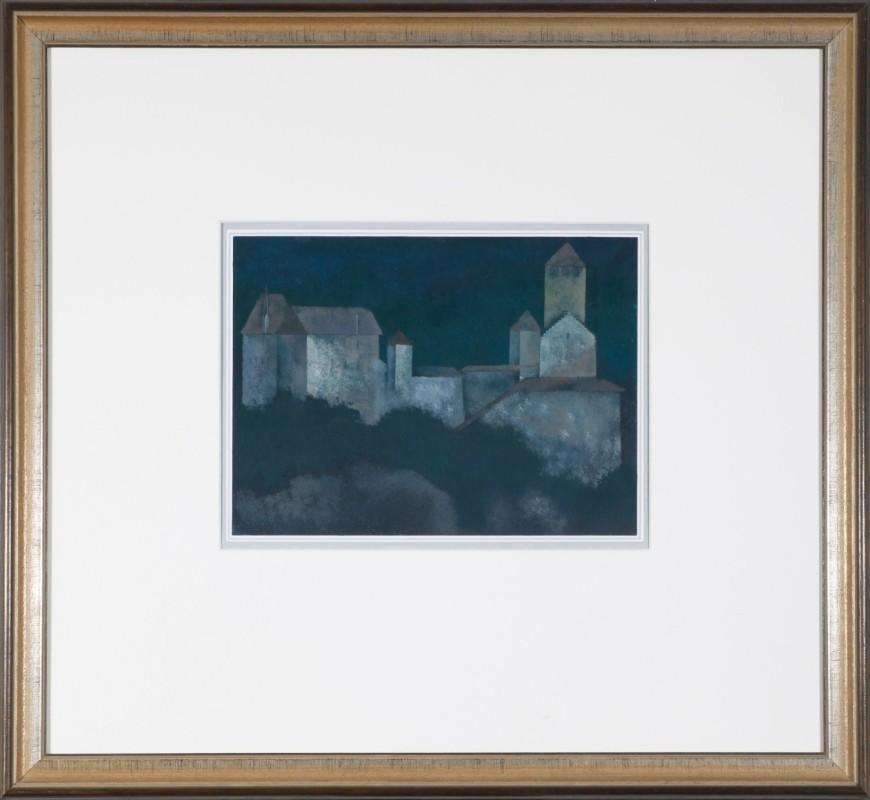 Schloß Tyrol, Pastell, 24 cm x 30 cm