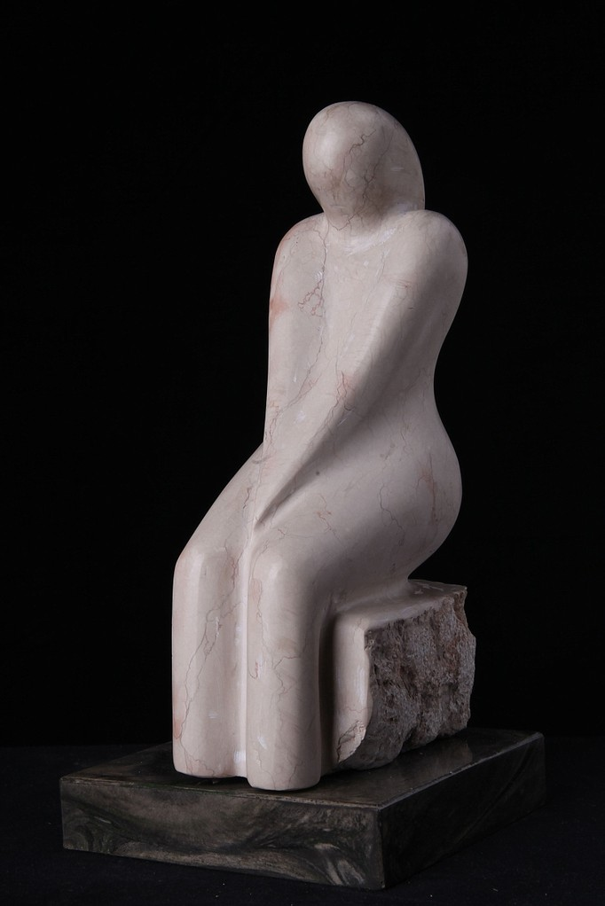 """""""Denkerin"""", Marmor, Höhe 36 cm"""