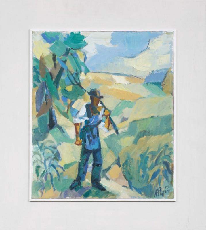 Südtiroler Bauer, Öl auf Leinwand, 42 cm x 36 cm