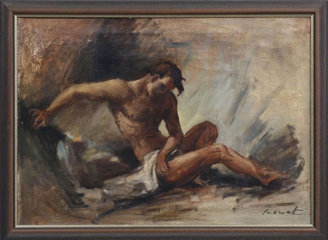 Akt, Öl auf Leinwand, 50 cm x 70 cm