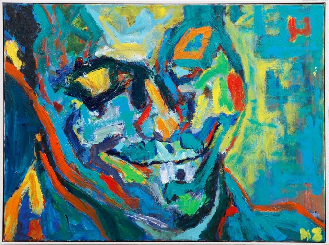 """Charlie Parker"", Acryl auf Leinwand, 60 cm x 80 cm"