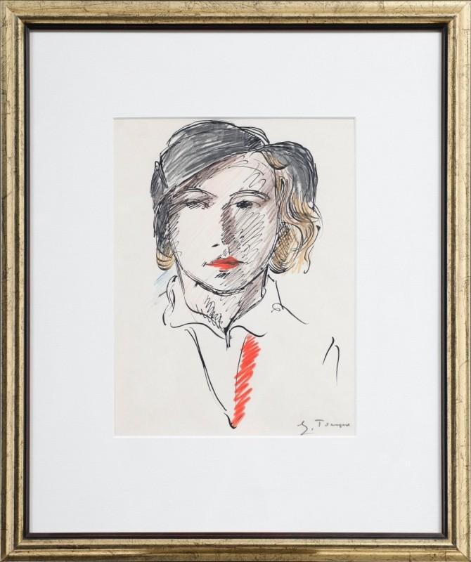 Dame, Mischtechnik auf Papier, 28 cm x 21 cm