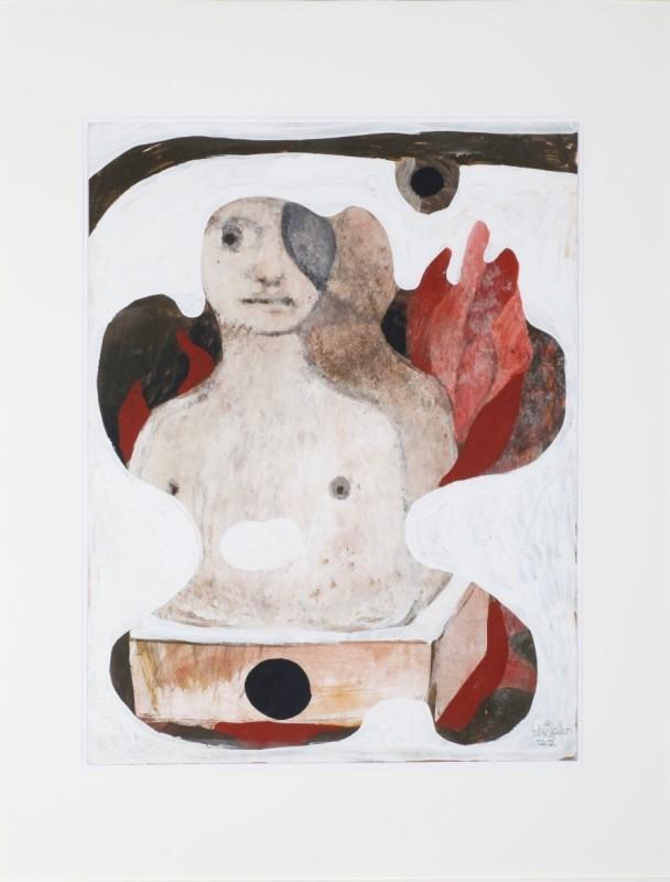 """""""Sehend-Nichtsehend"""", Öl auf Papier, 65 cm x 50 cm"""