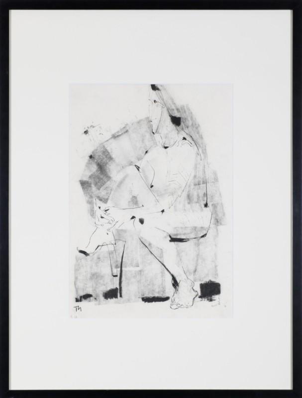Sitzende, Zeichnung, 49 cm x 34 cm