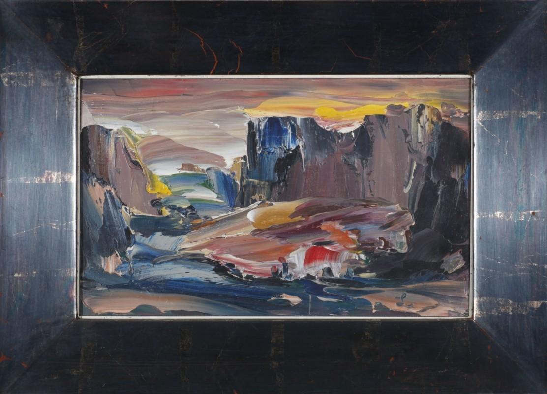 Landschaft, Öl auf Holz, 20 cm x 33 cm
