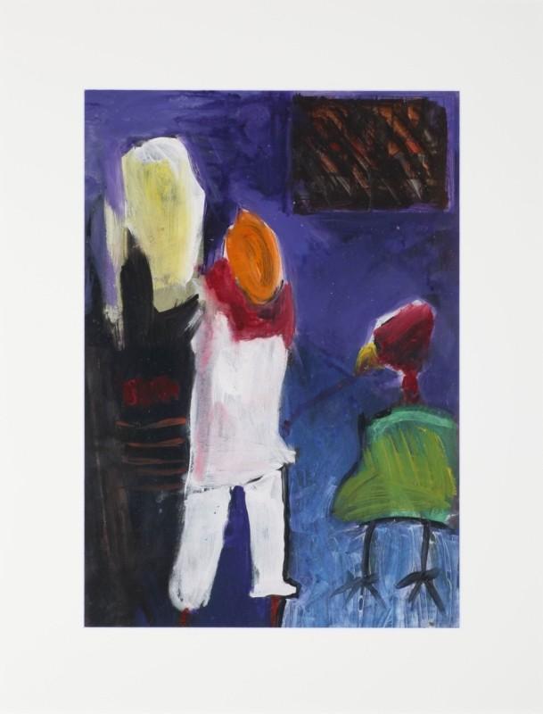 """""""Prozession"""", Acryl auf Papier, 67 cm x 47 cm"""