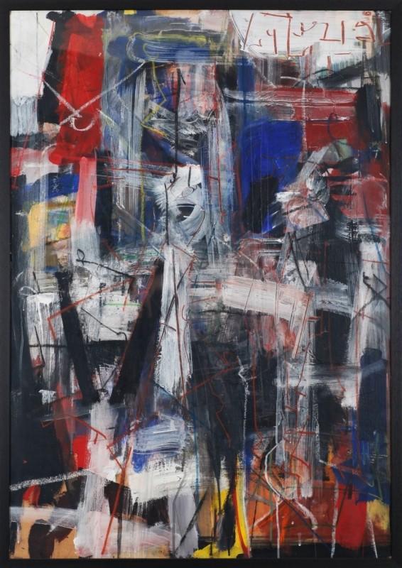 abstrakt, Mischtechnik auf Papier, 103 cm x 72 cm