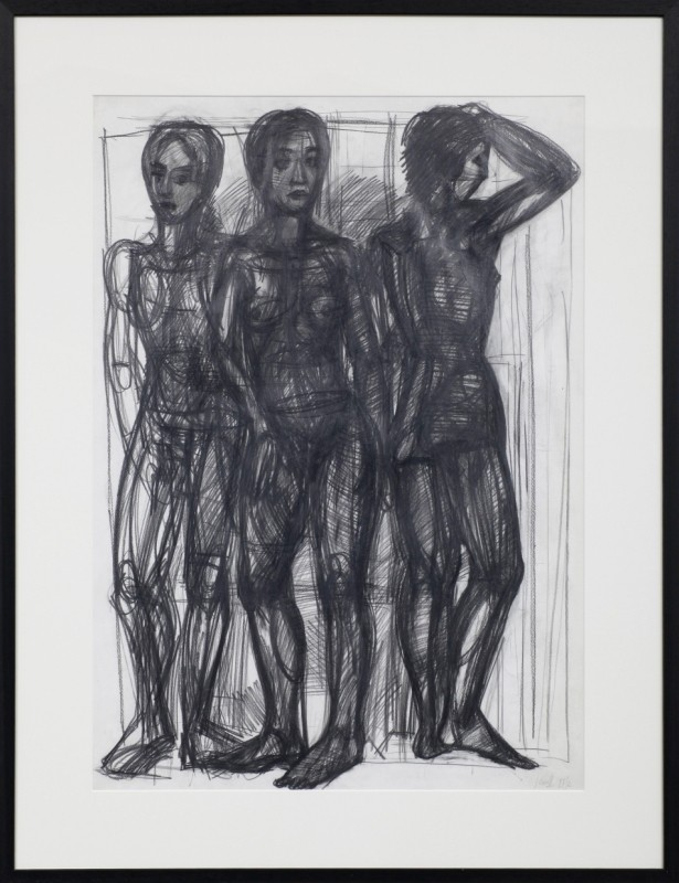 Figuren, Zeichnung, 85 cm x 60 cm