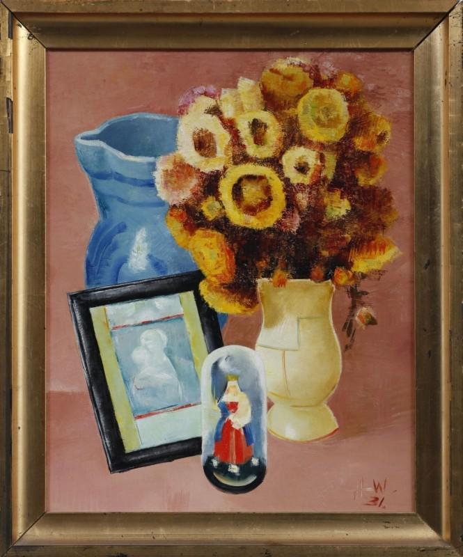 Stilleben, Öl auf Karton, 48 cm x 38 cm