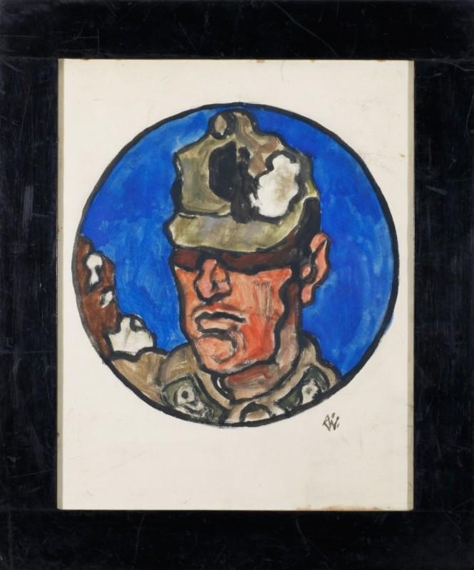 Soldat, Mischtechnik auf Papier, 35 cm x 27 cm