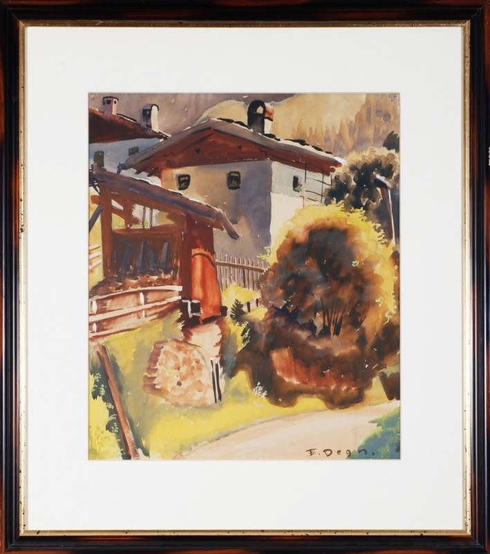 """Ellbögen"", Aquarell, 49 cm x 41 cm"
