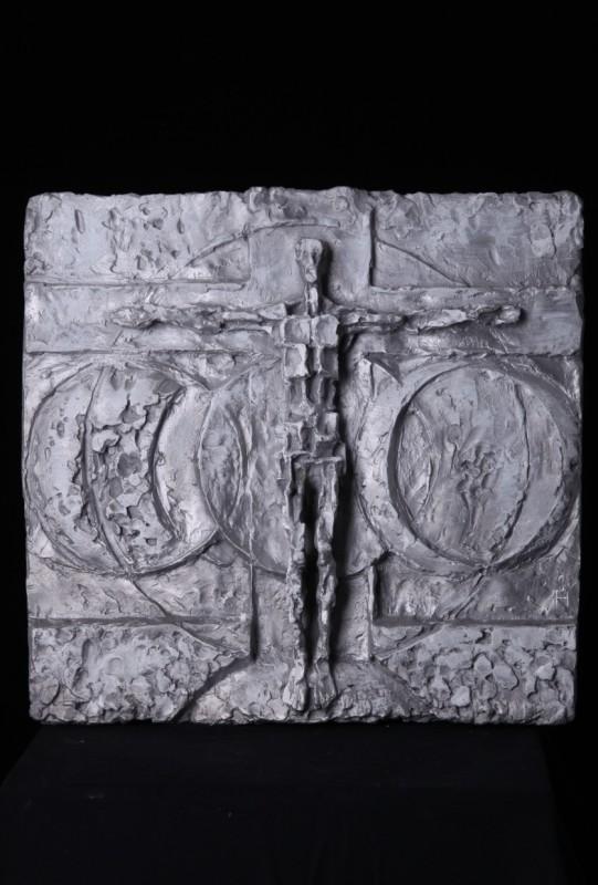 """""""Endzeitchristus"""", Aluminium, 55 cm x 56 cm"""