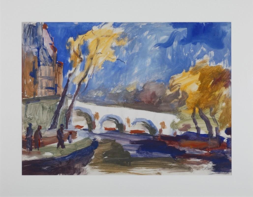 Paris, Mischtechnik auf Papier, 60 cm x 80 cm