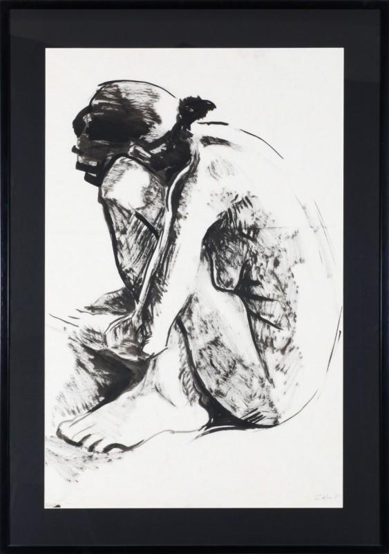Akt, Zeichnung 85 cm x 55 cm