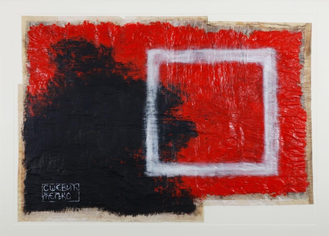 abstrakt, Mischtechnik auf Papier, 68 cm x 97 cm