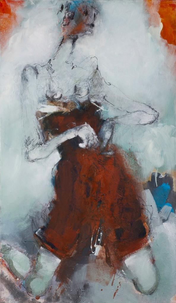 Figur, Acryl auf Leinwand, 120 cm x 70 cm