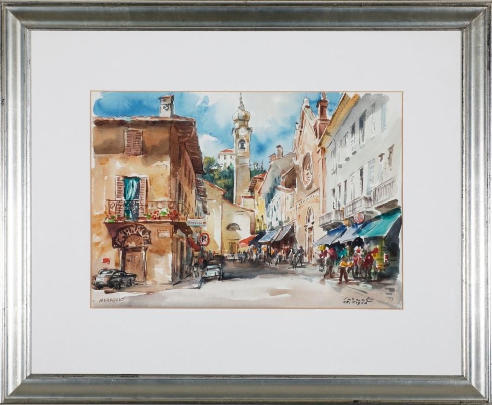 """""""Menaggio"""", Aquarell, 35,5 cm x 50 cm"""