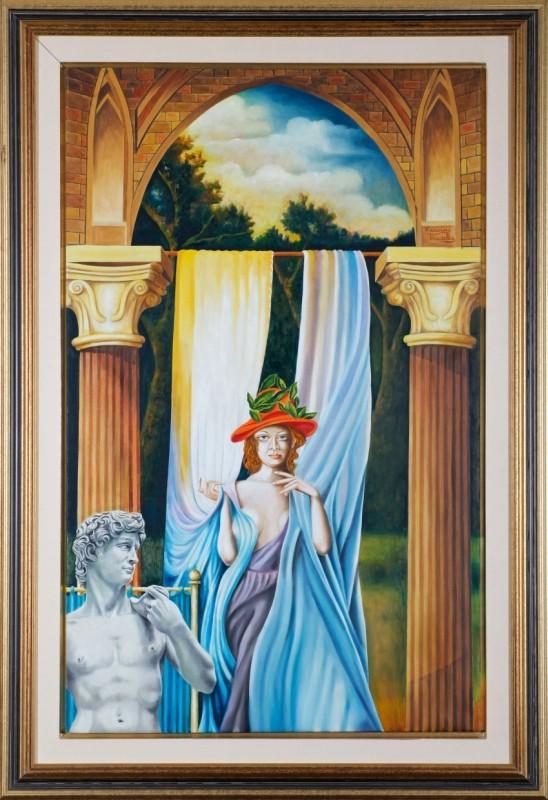 """David"", Öl auf Leinwand, 50 cm x 85 cm"