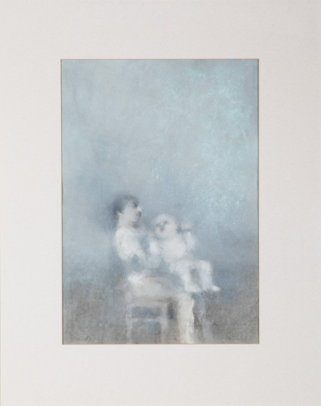Freude am Kind, Pastell auf Papier, 47 cm x 33 cm