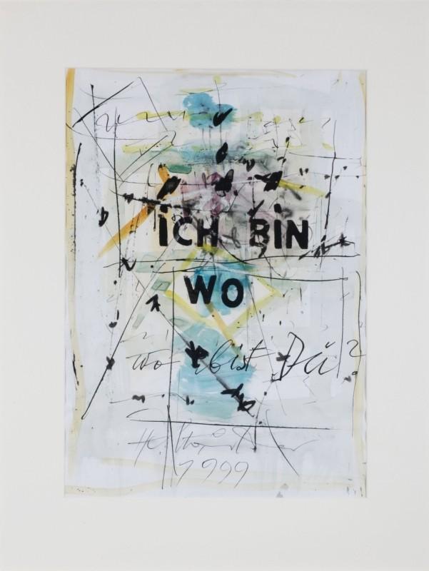 abstrakt, Mischtechnik auf Papier, 59 cm x 41 cm