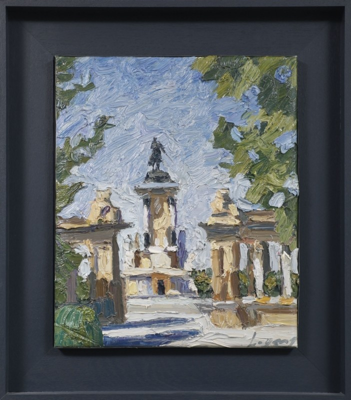 """Il Buen Retiro"", Öl auf Leinwand, 42 cm x 35 cm"