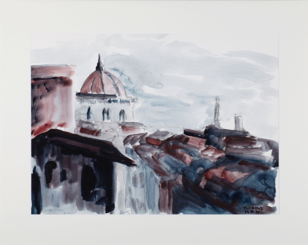 """""""Florenz"""", Aquarell, 55 cm x 75 cm"""