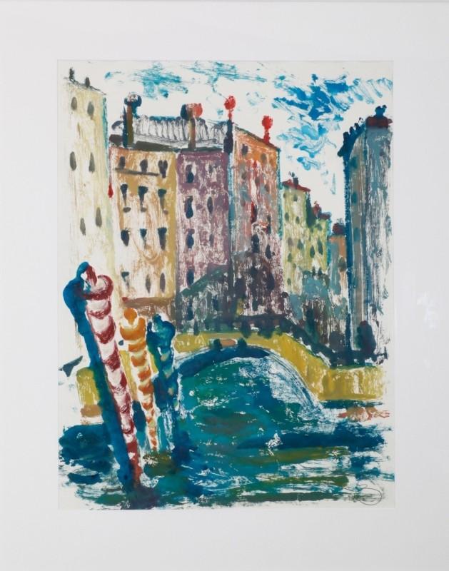 Venedig, Öl auf Papier, 73 cm x 54,5 cm