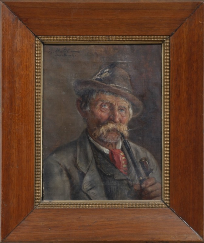 Bauer, Öl auf Leinwand, 30 cm x 23 cm