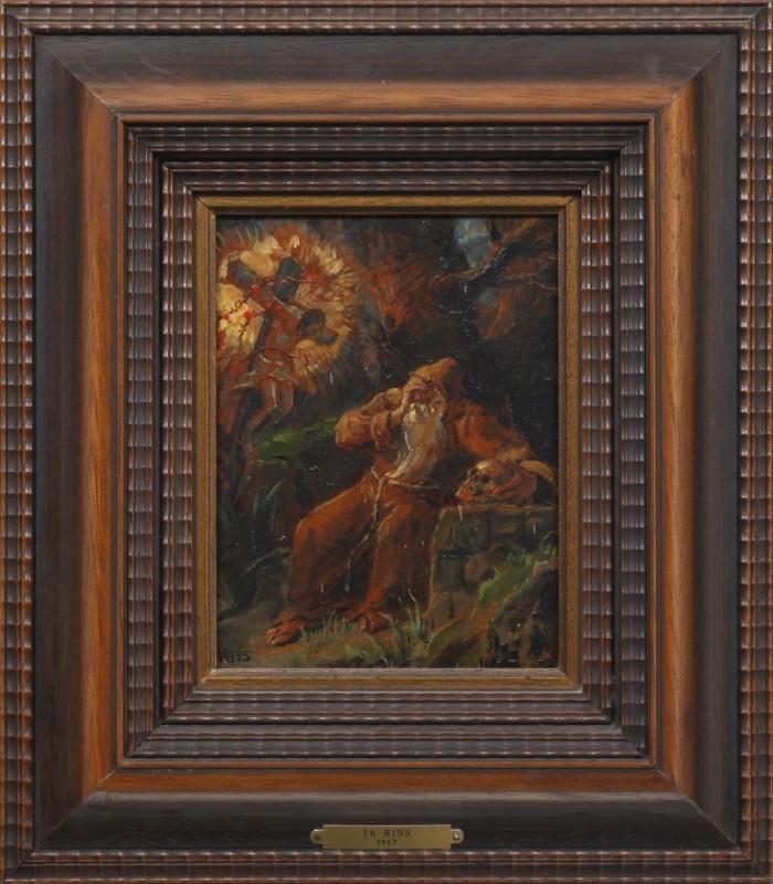 """""""Einsiedler"""", Öl, 22 cm x 16 cm"""