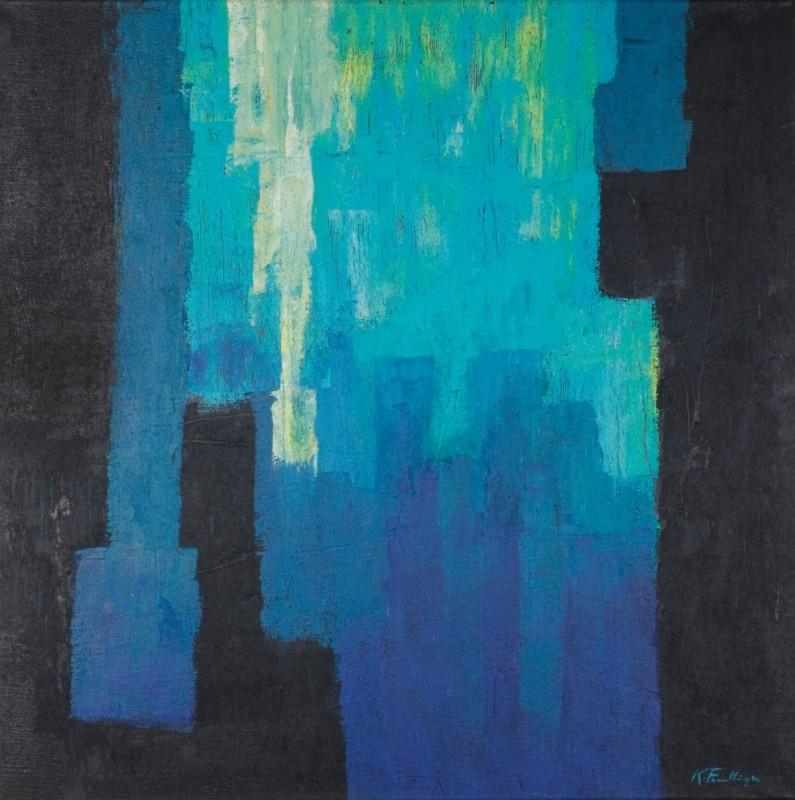abstrakt, Acryl auf Leinwand, 100 cm x 110 cm