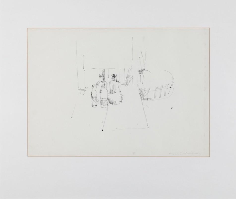 Stilleben, Zeichnung, 43 cm x 81 cm