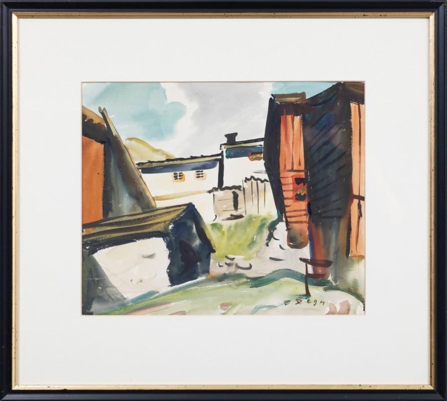 """""""Pitztal"""", Aquarell, 35 cm x 43 cm"""