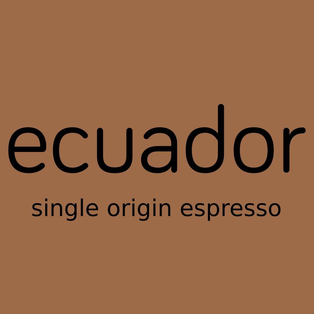 ecuador, single origin espresso