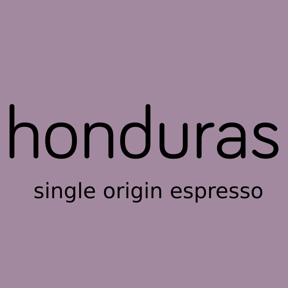 honduras, single origin espresso