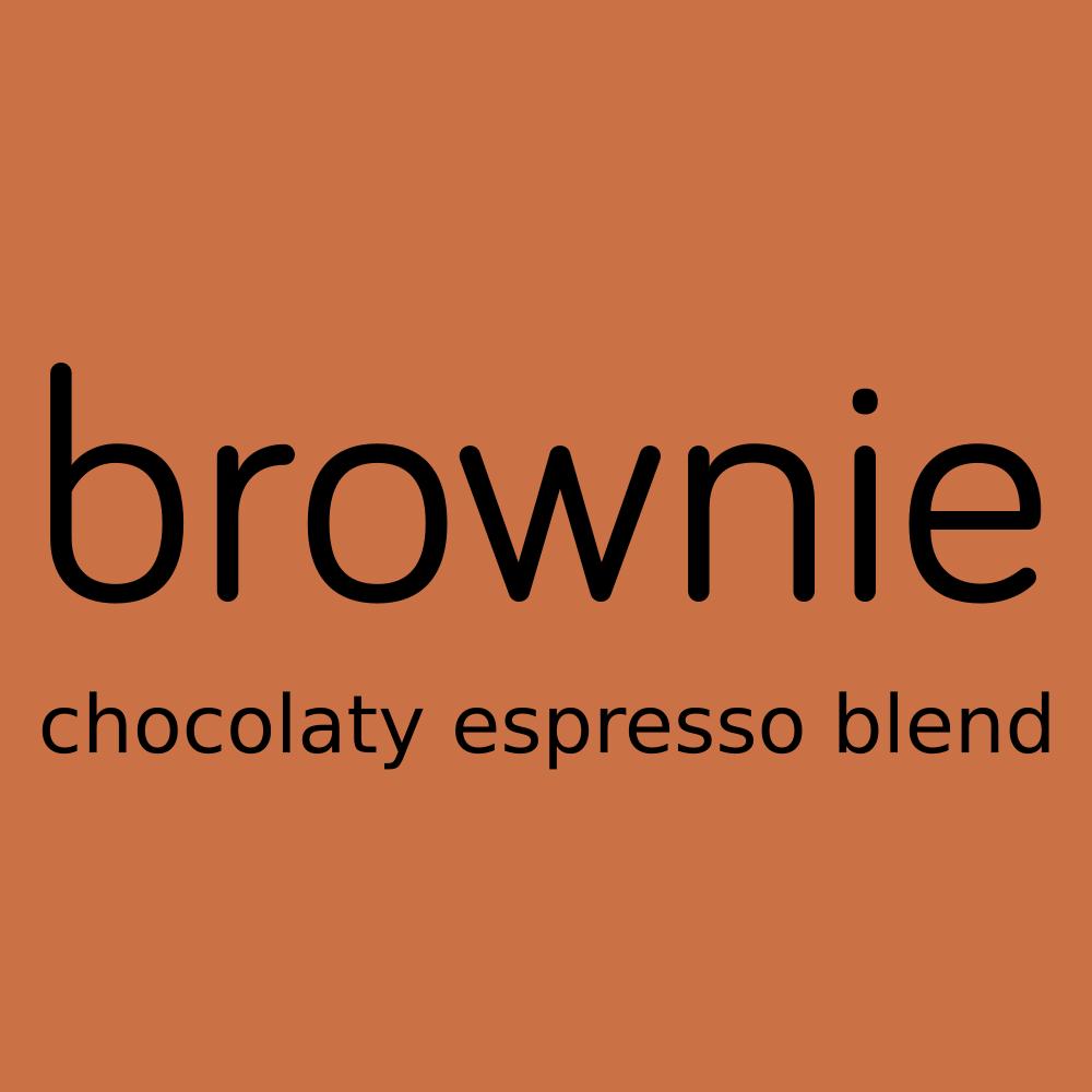brownie chocolaty espresso blend