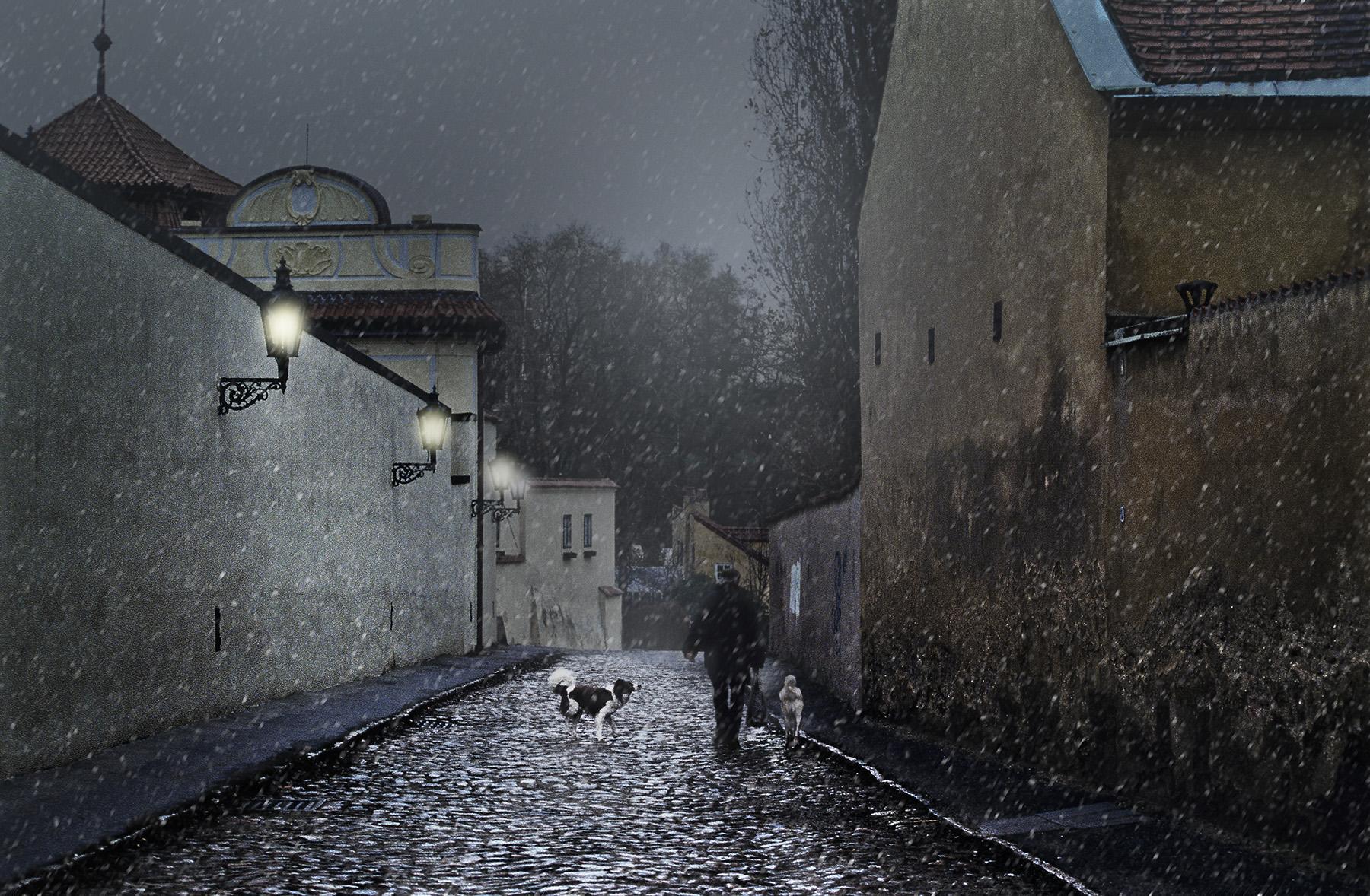 Sera d'inverno a Hradcany. Praga