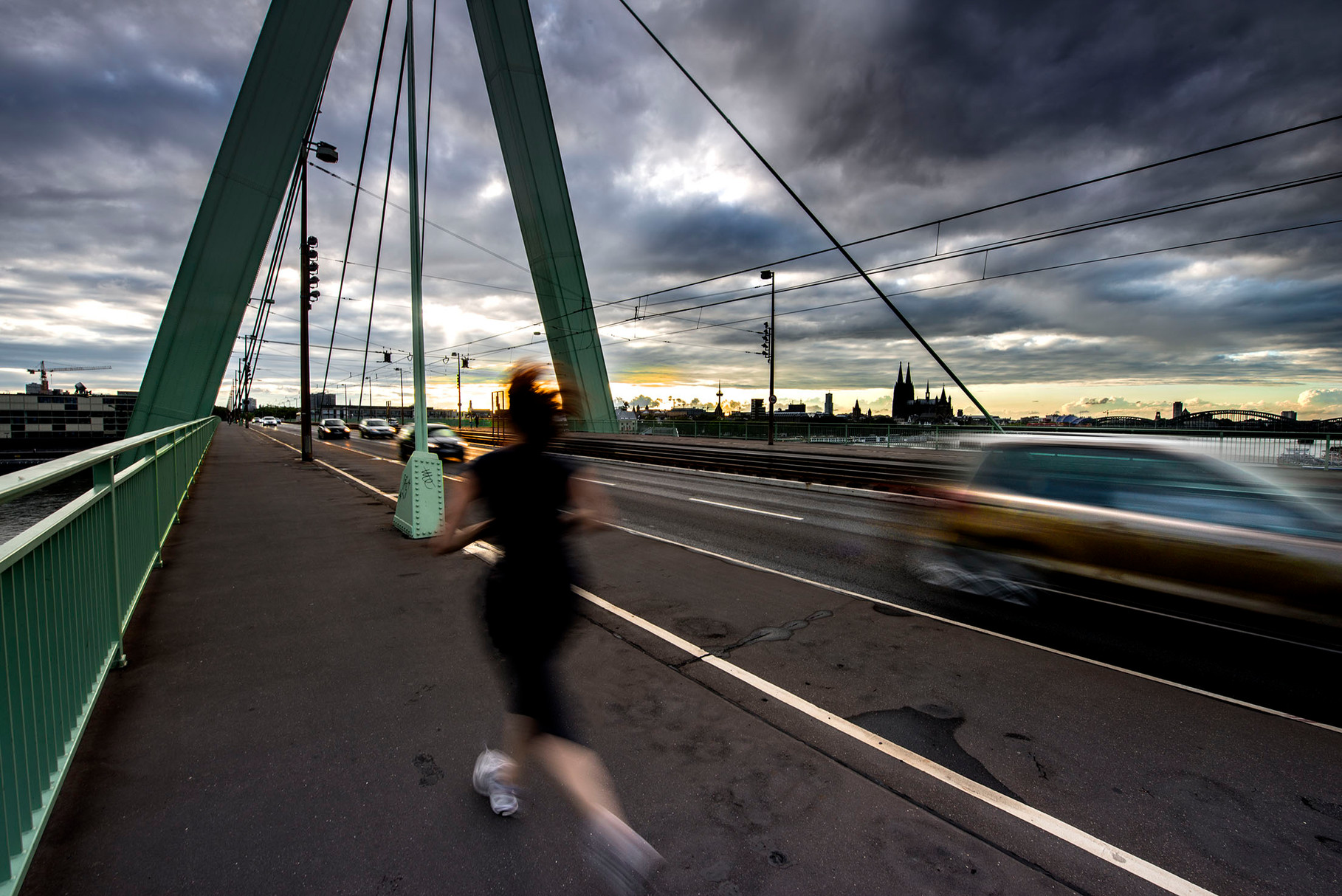 Crossing the bridge (Köln, Germany)