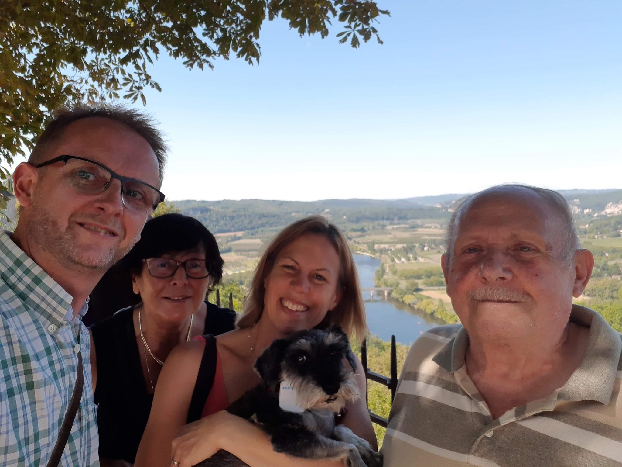 Visite de Domme avec la maman de Bettina et le papa de Christophe
