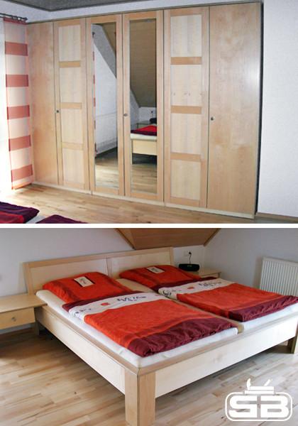 Schlafzimmer, Ankleidezimmer und begehbarer Kleiderschrank