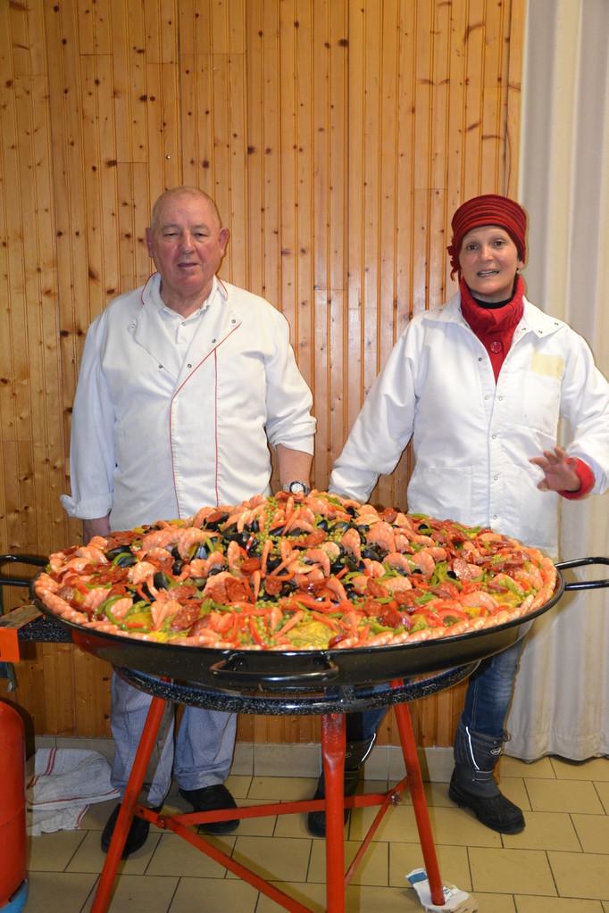 Une paella succulente pour fêter cette soirée