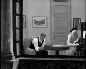 ©Edward Hopper, Room in New York, 1932.
