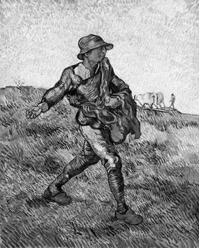 ©Vincent van Gogh, Le semeur (d'après Millet), 1890.