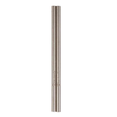 Bamboolik Trinkhalme aus Edelstahl