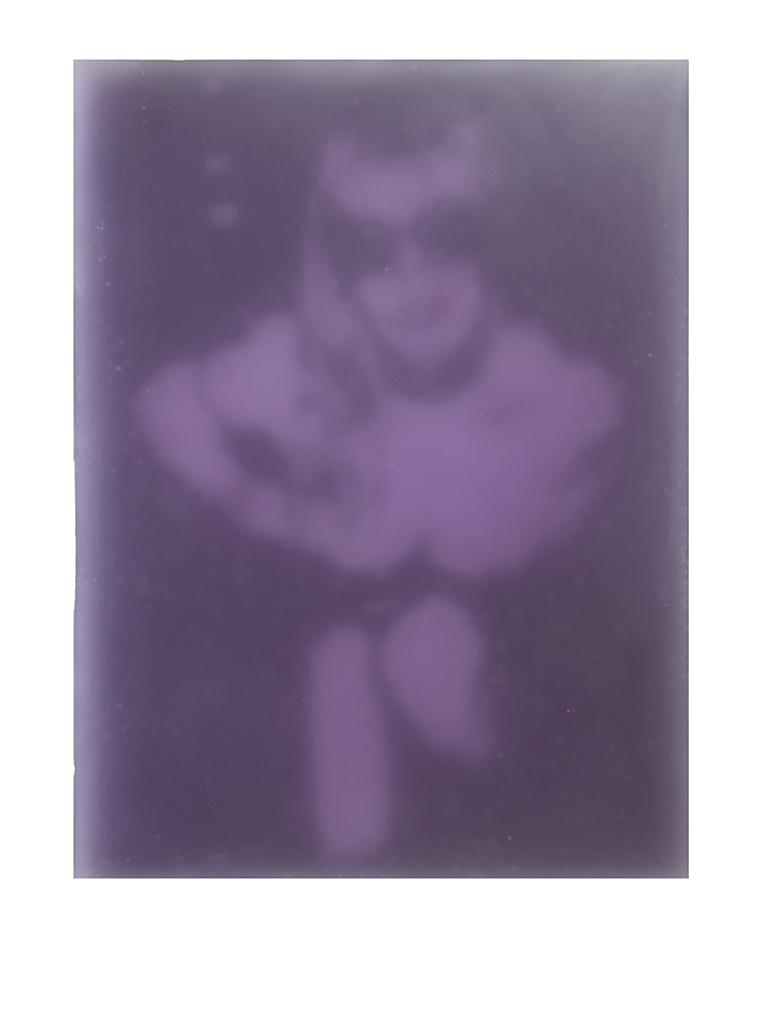 Lustengel-Violett, 2008, Paraffin/Lwd./Holz, 18x24 cm