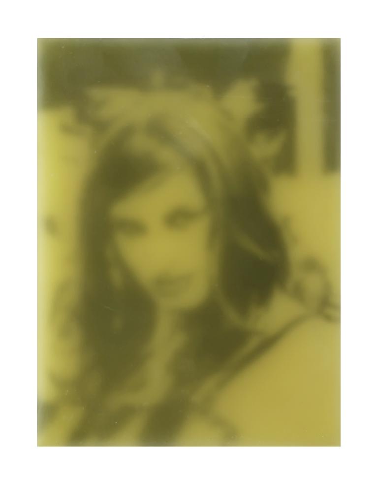 Lustengel-Gelb-ora. 2, 2008, Paraffin/Lwd./Holz, 18x24 cm