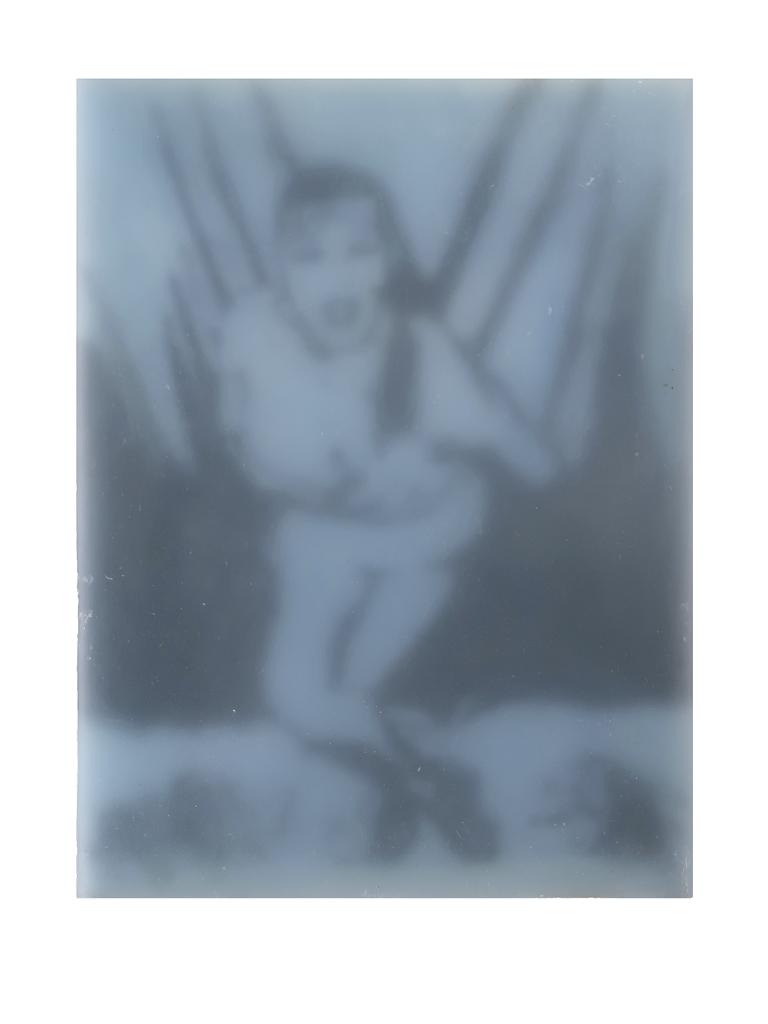 Lustengel-Hellblau, 2008, Paraffin/Lwd./Holz, 18x24 cm