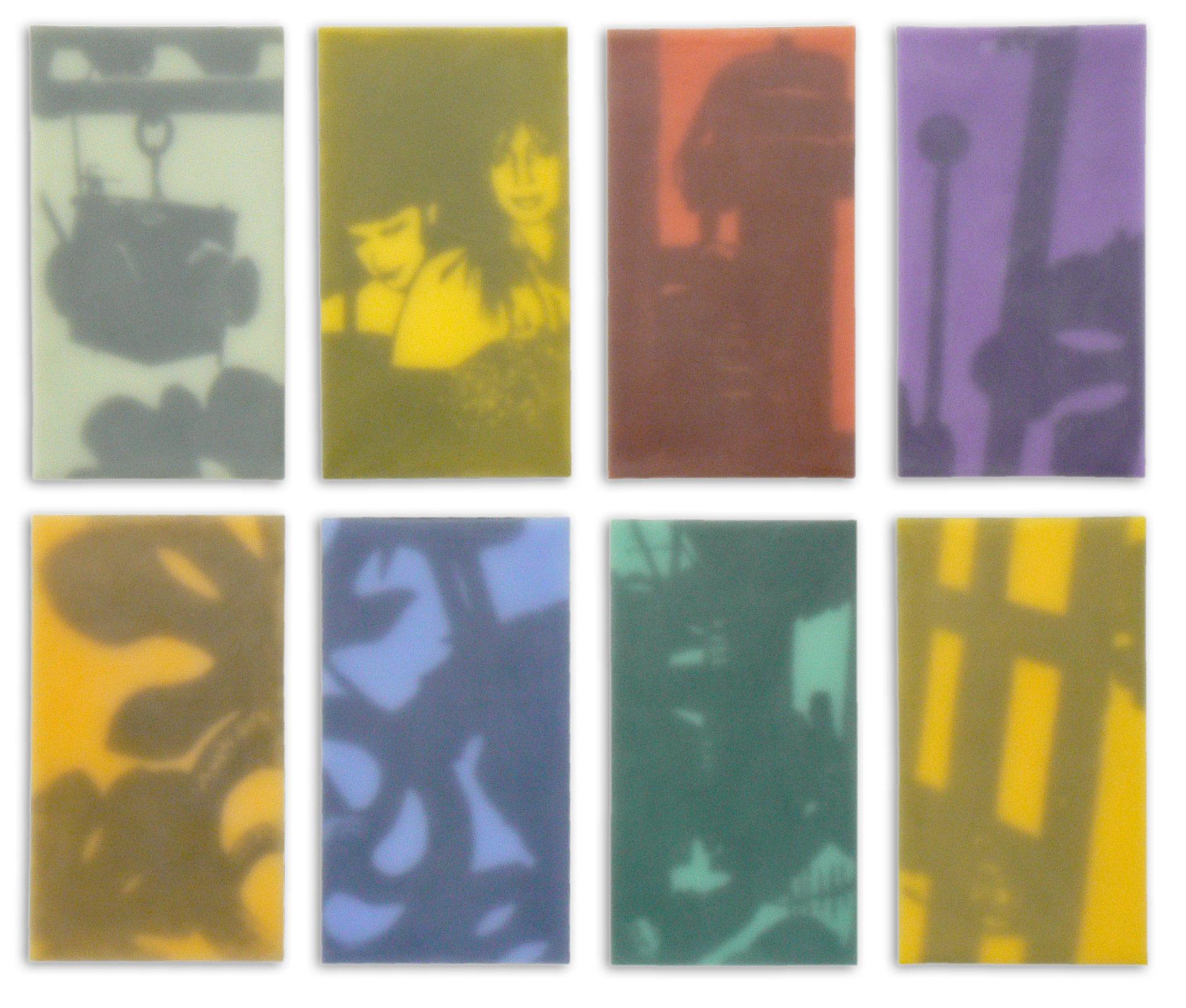 Atelier mit guten Geistern, 2010, 8-teilig, je 35x60cm
